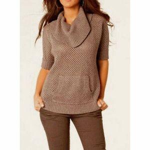 BCBGMAXAZRIA Eddy Grey Dusk Sweater Sz OS